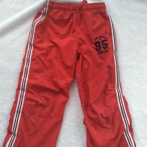 Boys red lined track pants